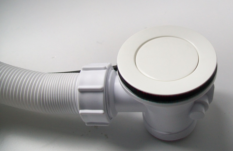 Bath Pop Up Waste And Overflow White 74000371 Plumbers